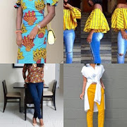 Ankara Top Styles with Jeans 2018