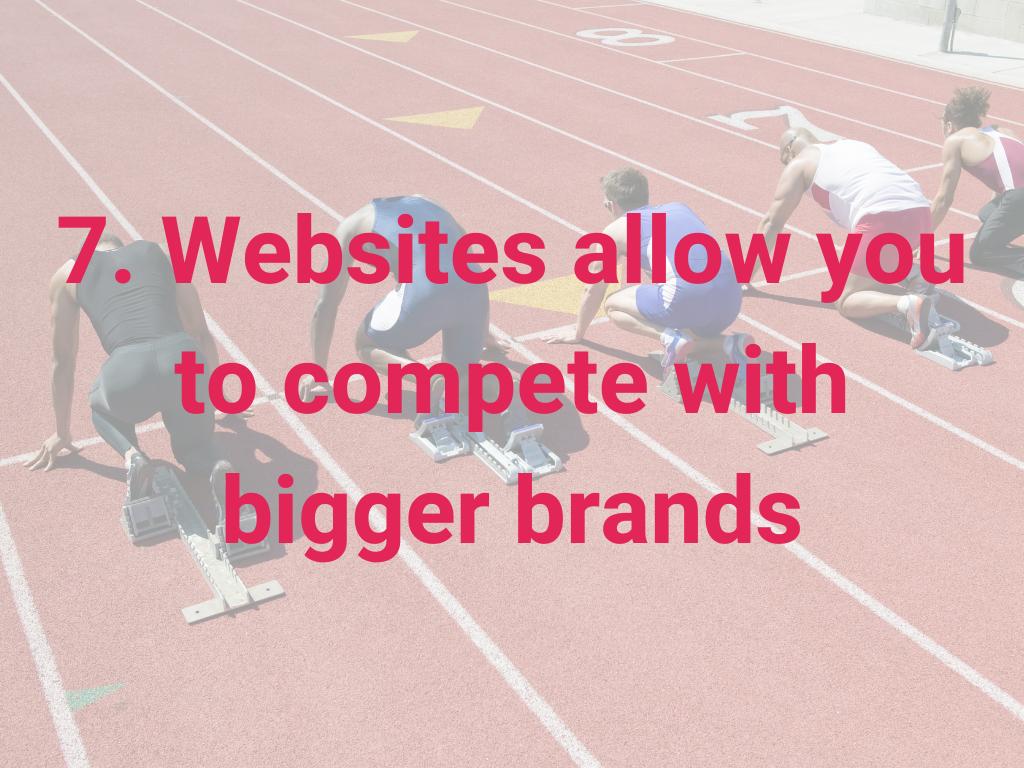 Met websites kun je concurreren met grotere merken