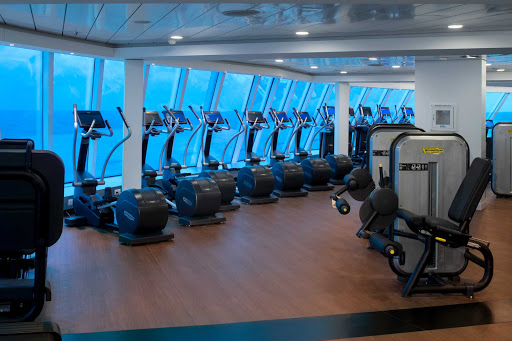 Keep in shape at the Fitness Center during your Celebrity Edge sailing.