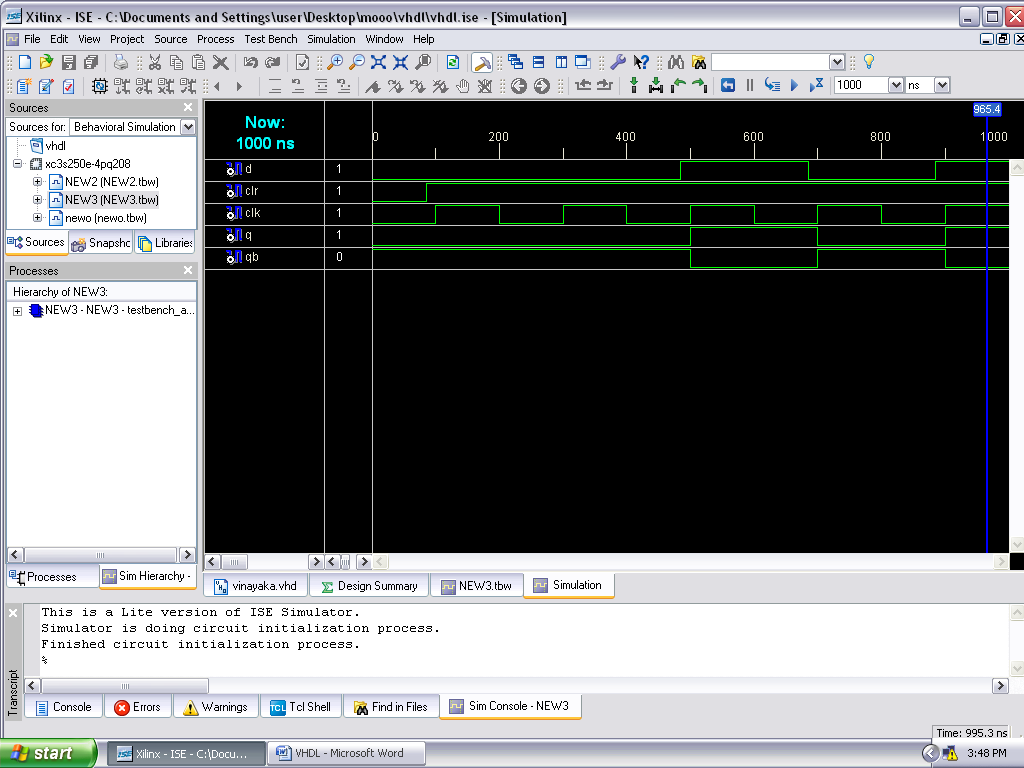 Vhdl And Verilog Codes  Realization Of D