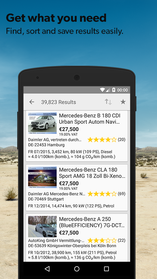 mobile.de – vehicle market- screenshot