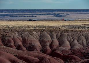 Photo: Somewhere is Arizona. Leaving Painted Desert.