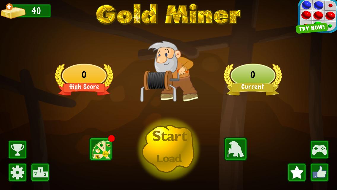 Gold Miner English 1 Player