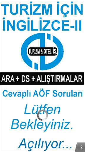 AÖF TURİZM İÇİN İNGİLİZCE-2