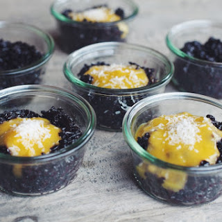 Black Rice Pudding with Mango Purée
