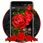 Luxury Black Red Rose Theme icon