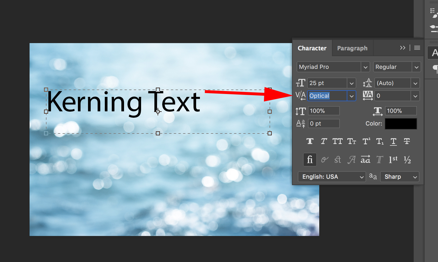 how to set kerning in css