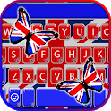 Butterfly British Flag Keyboard Theme icon