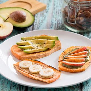 Easy No Fuzz Sweet Potato Toast Three Ways Recipe