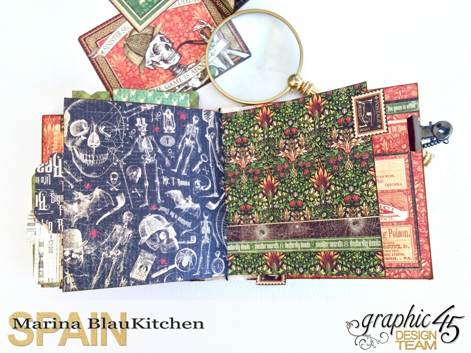 Stand and Mini Album Master Detective by Marina Blaukitchen Product by Graphic 45 photo 24.jpg