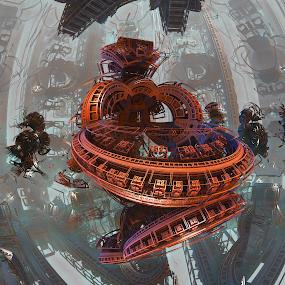 Float by Sebastian Roberts - Illustration Sci Fi & Fantasy ( illustrator, psychedelic, mb3d, trippy, photoshop )