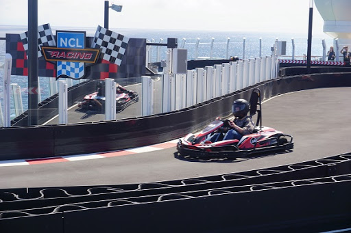 NCL_Racetrack.jpg - Start your engines! The largest racetrack at sea will test your driving acumen and skill as you compete for first place.