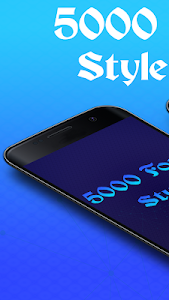 5000 Font Style Free 3.0
