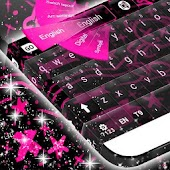 Emo Pink Keyboard Theme