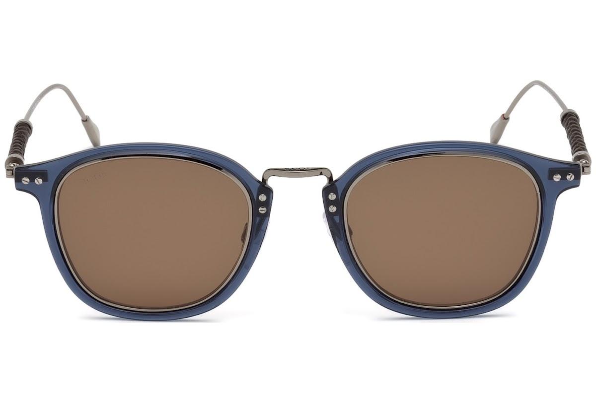 Sunglasses Tods TO 0218 90E shiny blue//brown