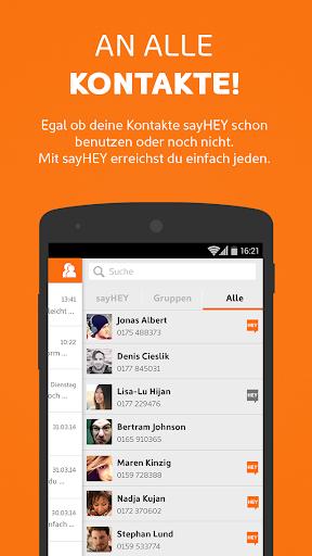 sayHEY gratis Messenger & SMS screenshot 2