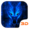 Ice Wolf 3D Theme for S7 icon