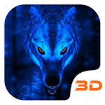 Ice Wolf 3D Theme Icon