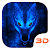 Ice Wolf 3D Theme file APK for Gaming PC/PS3/PS4 Smart TV