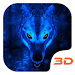 Ice Wolf 3D Theme icon