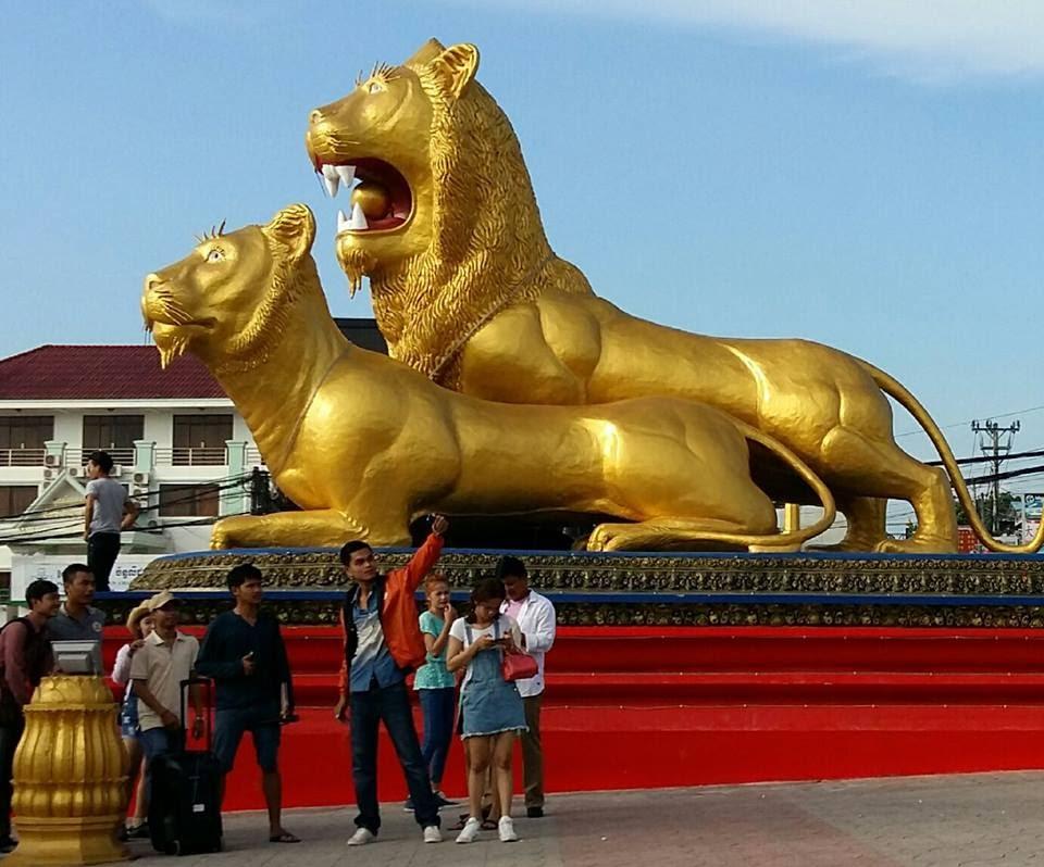 Bùng binh 2 con sư tử Sihanouk Ville