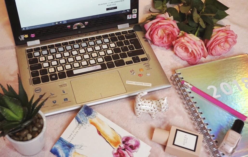Blogger flat lay