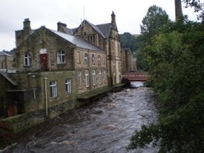 Photo: Hebden Bridge - Industrial Revolution Vestige and Calder River