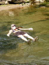 Photo: Stephanie floating