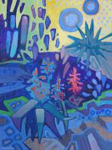 "Photo: ""Garden Tapestry"", acrylic on canvas 16"" x 12"", © Nancy Roberts"