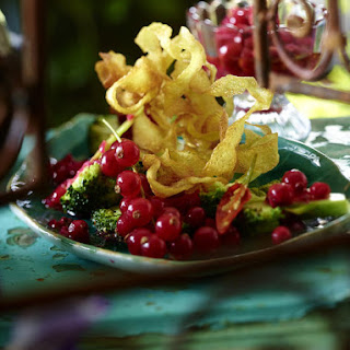 Potato Nests with Broccoli and Spiced Berry Chutney