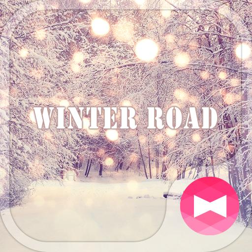 Beutiful Wallpaper Winter Road Theme Icon