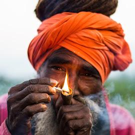 Hermit by Rahul Baruah - People Portraits of Men