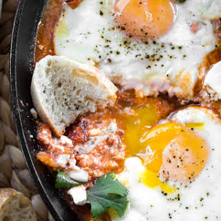 Harissa Shakshuka (North African Eggs in Purgatory).