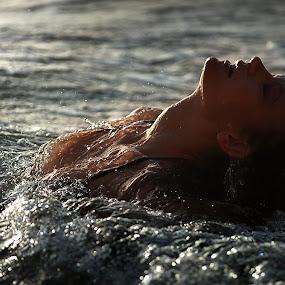 Stolen Breath by Valerie Lyandres - People Portraits of Women