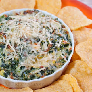Goat Cheese, Spinach, and Artichoke Dip.