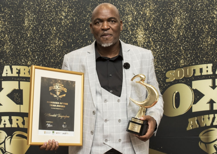 Manager of the year of the year Mlandeli Tengimfene during the 2018 Boxing SA Awards at Boardwalk Casino and Hotel on February 02, 2018 in Port Elizabeth, South Africa.