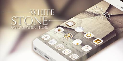 White Stone GO Launcher Theme v1.0 screenshots 6