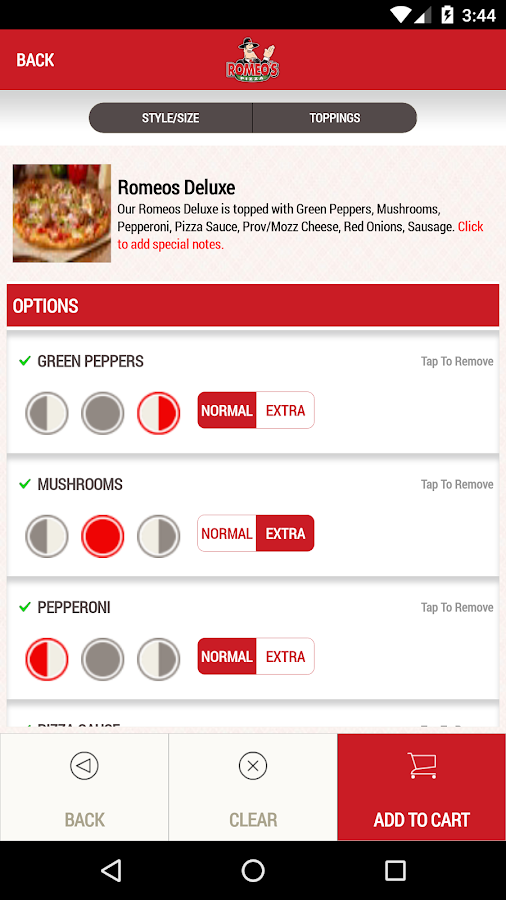 Romeo's Pizza- screenshot