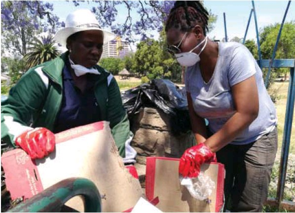 OR Tambo District Municipality mayor Nomakhosazana Meth take part in the Clean My Mthatha campaign.