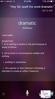 Students can use Siri to help with spelling and definitions of words