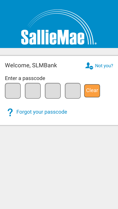 Sallie Mae Bank- screenshot