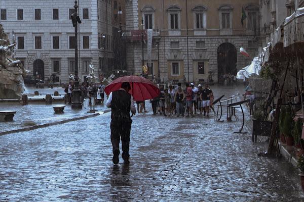 Chi con l'ombrello, e chi senza  di gatta66