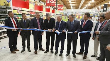 Corte de cinta en la inauguración del Carrefour Gran Plaza