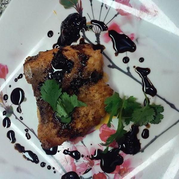 Salmon W/balsamic Garlic/ginger Glaze Recipe