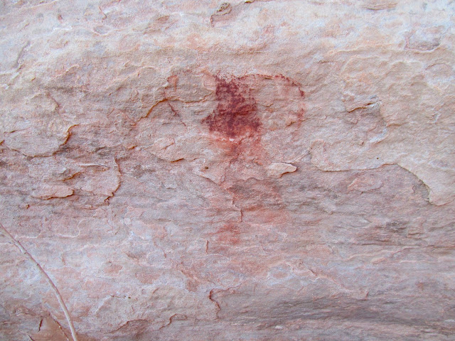 Faded pictograph
