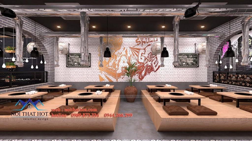 thiết kế nhà hàng lẩu nướng đẳng cấp