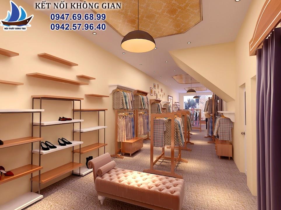 thiết kế cửa hàng thời trang nữ rẻ đẹp