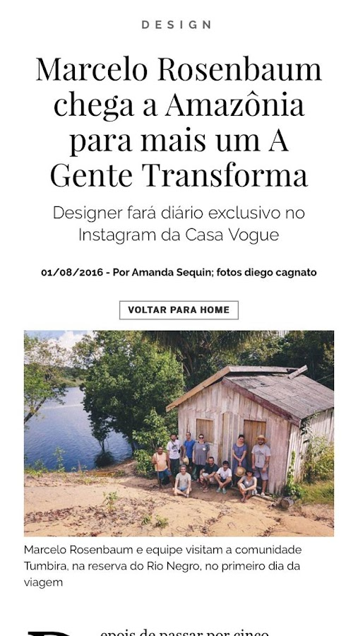 Casa Vogue: captura de tela