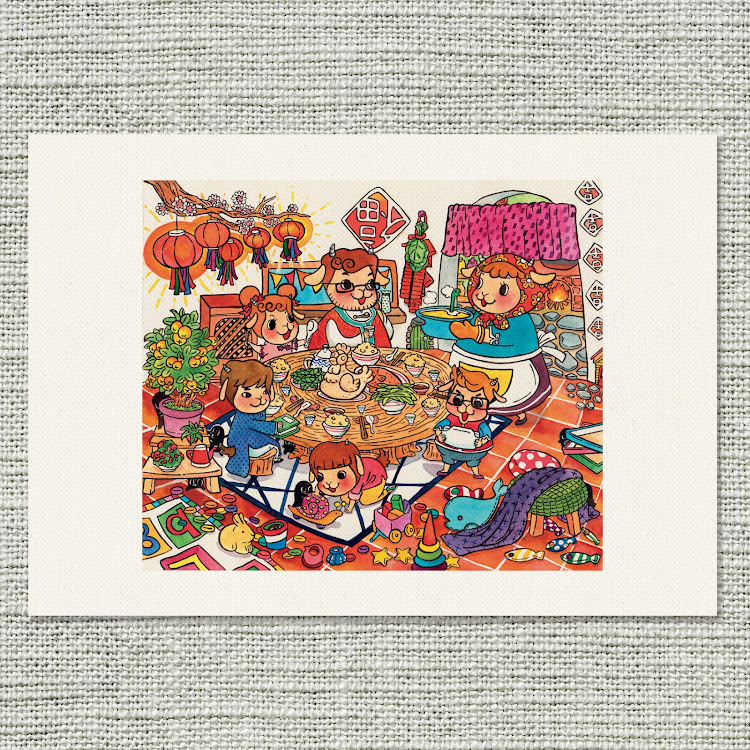 A4 Canvas Print【New Dishes】 by Jeovine