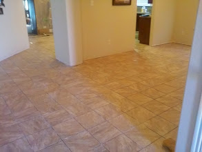 Photo: onyx sand tile 12x12 piezas caja  porcelain tile marble look installed by Floors We Do, installation over cement floor purchased discount supply store. glass tile, stone, porcelain tile